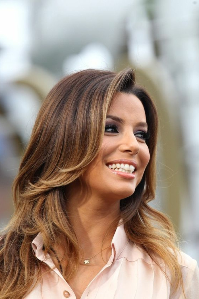 balayage miel eva longoria. Black Bedroom Furniture Sets. Home Design Ideas