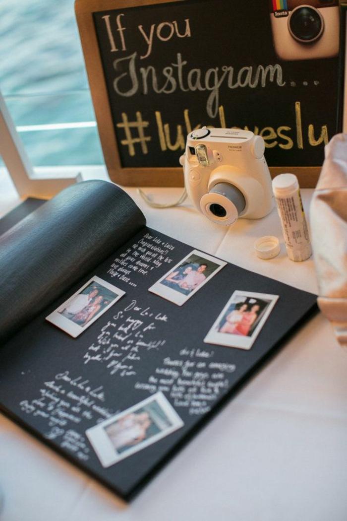 Idée livre d or mariage original livre dor mariage cadre livre d or Insta booth photo