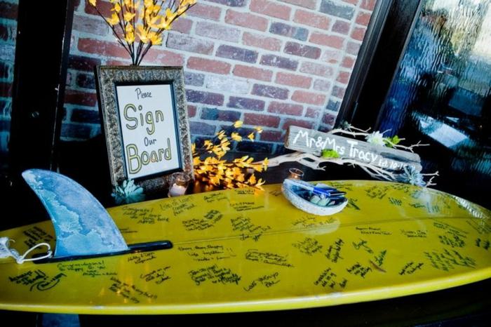 Le livre d or mariage personnalisé livre d or mariage vintage surf signatures