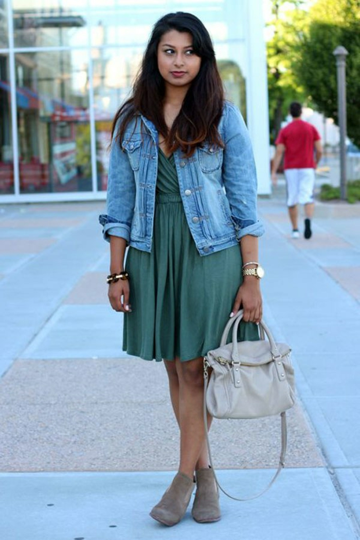 Comment s habiller pour etre a la mode tenue swag robe et veste en jean