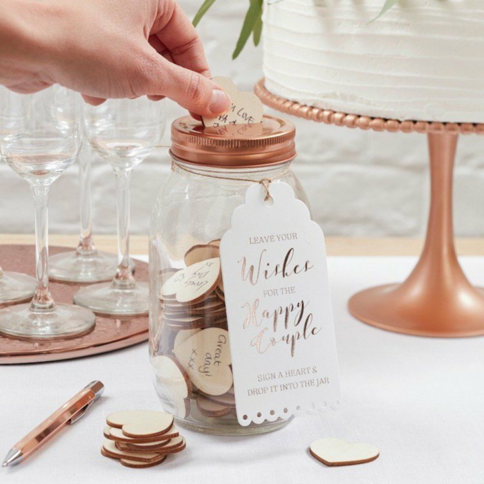 Notre mariage idée livre d or mariage livre d or à customiser cool idée décoration blanc et rose doré