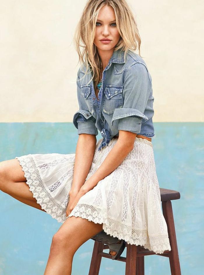 plus de photos 0b090 bacaa ▷ 1001 + images de la tenue avec chemise en jean