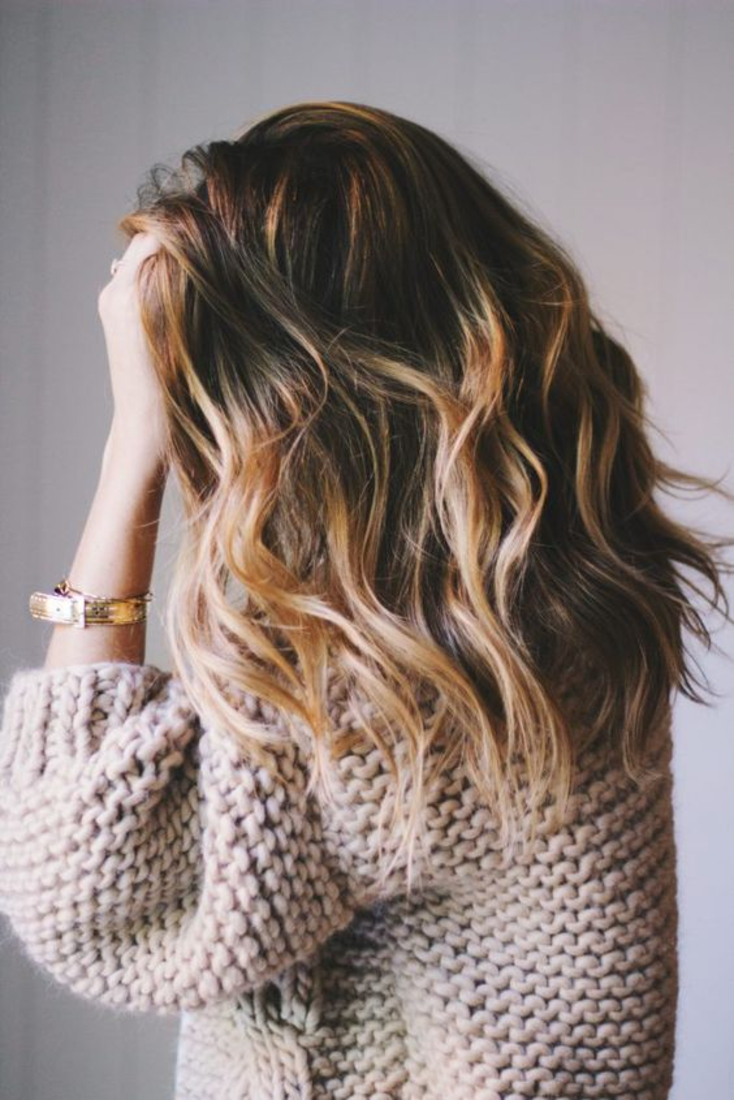 Beach wave cheveux mi long