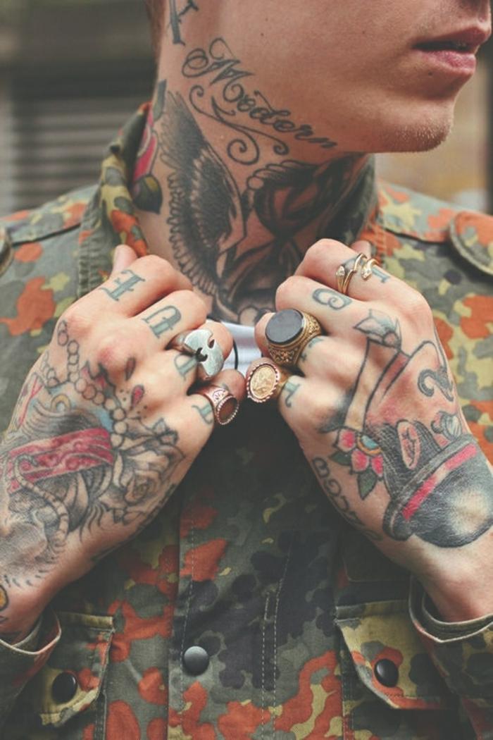 Signification tatouage old school homme tatouage pin up rockabilly cou tatouage'