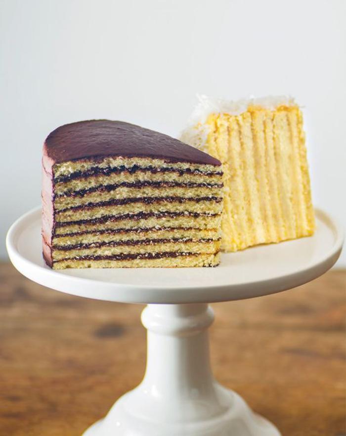 recette de layer cake smith island, recettes faciles pour des gâteaux anniversaire à couches multiples