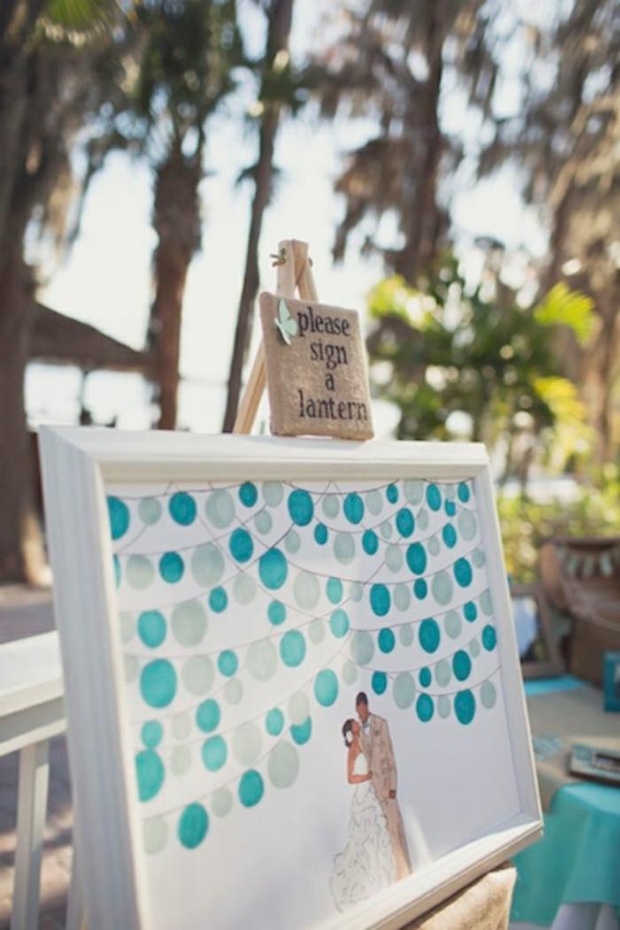 Magnifique idée de peinture de mariage laisser votre signature pour toujours pour le mariage