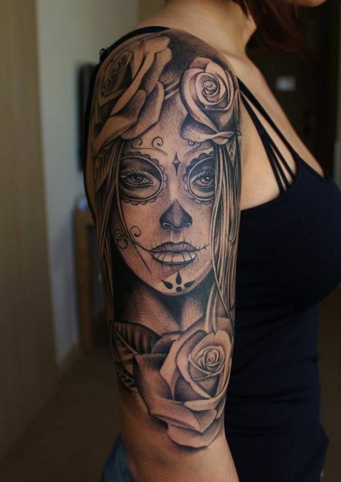 Les différents style de tatouage tattoo old school bras crane de sucre roses old school tatou