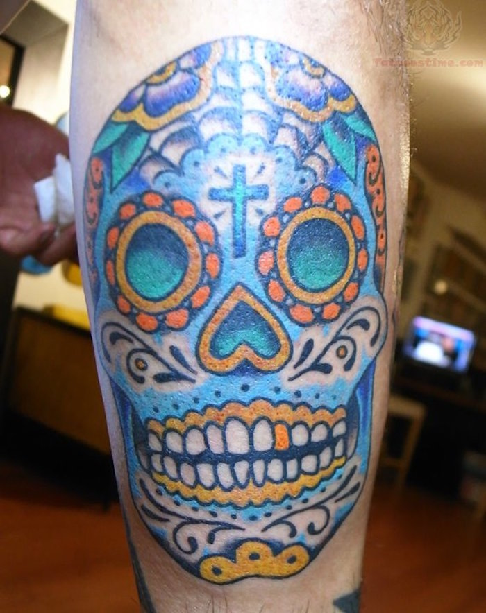 tattoo crane mexicain tatouage tete de mort mexicaine signification