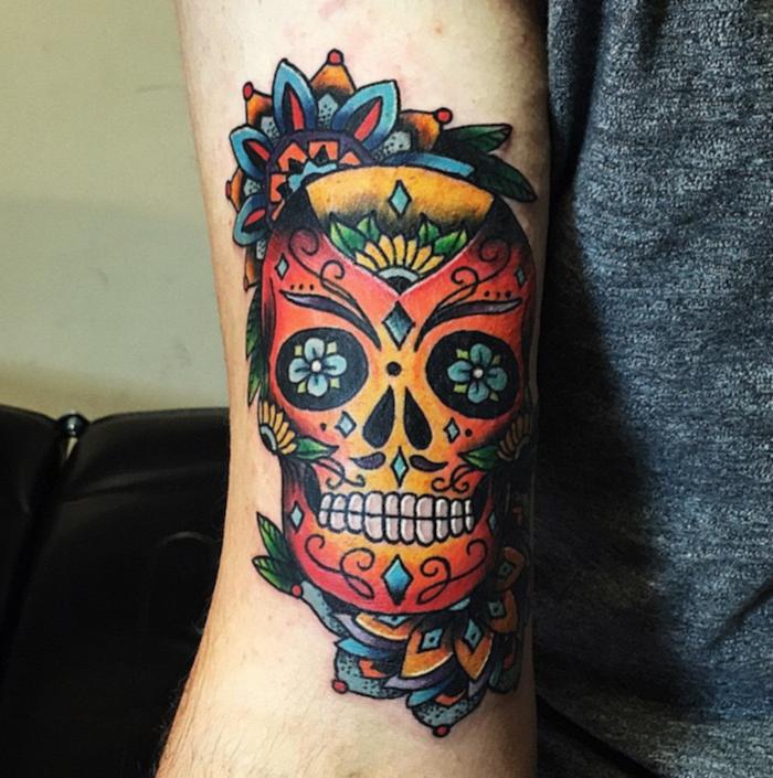 crane fete des morts mexique tatouage tatouage. Black Bedroom Furniture Sets. Home Design Ideas