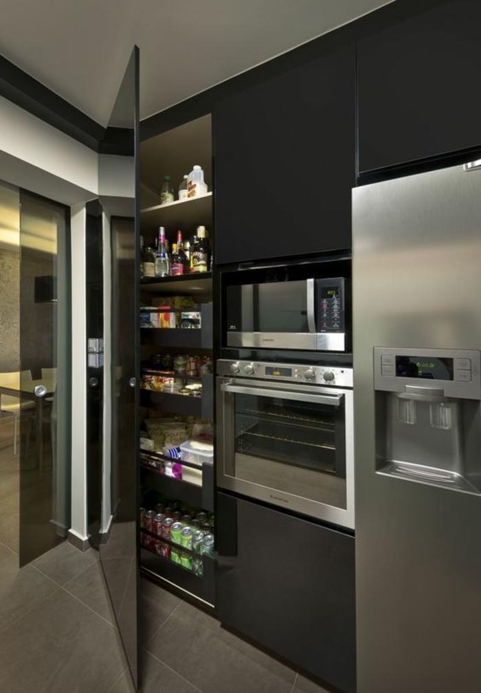 Cuisine bois frigo for Cuisine avec frigo noir