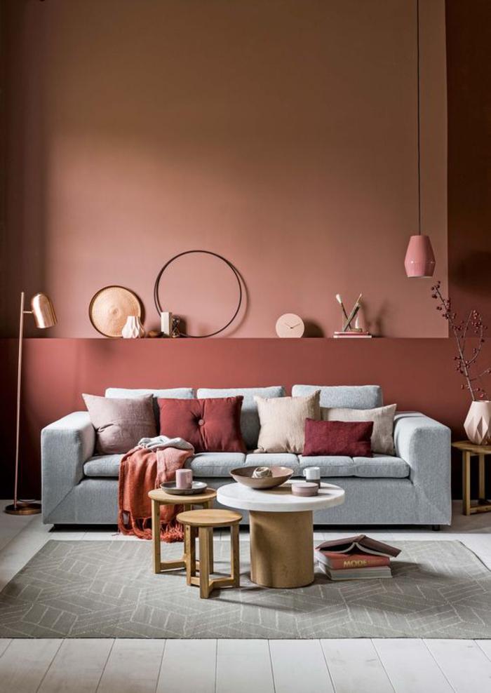 couleurs tendance 2017 salon de style scandinave aux nuances douces de la couleur terracotta