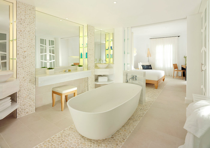 salle de bain beige et blanc salle de bain chocolat et. Black Bedroom Furniture Sets. Home Design Ideas