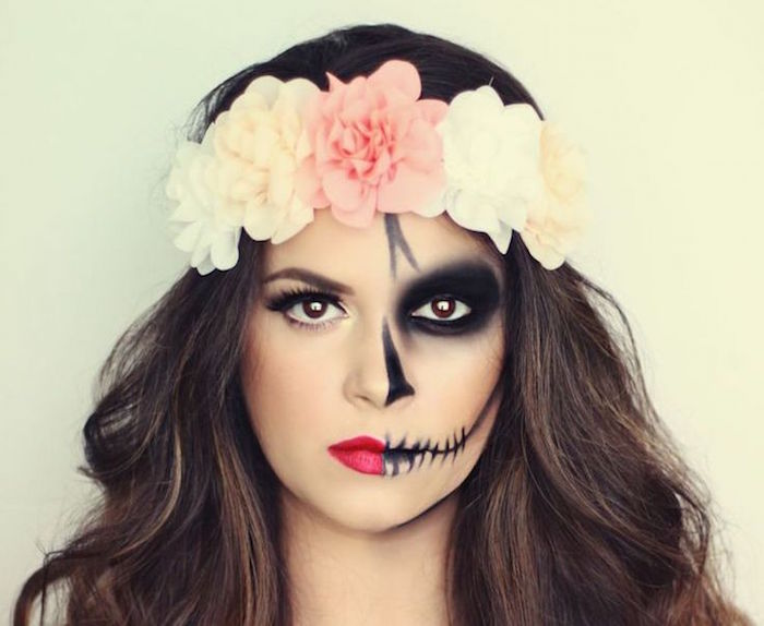 facile-simple-maquillage-mexicain-femme-fete-des-morts-mexique