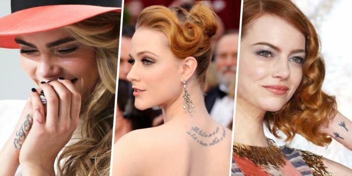 Image tatouage femme tatoo pour femme choirir beauté femme célèbre