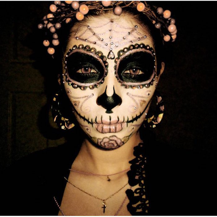 maquillage squelette mexicain maquillage halloween crne mexicain olympus digital camera. Black Bedroom Furniture Sets. Home Design Ideas