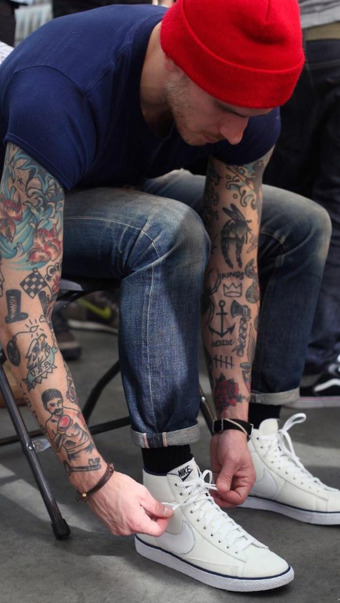 Tatouage rockabilly tatouage dé tatouage aigle signification homme manche