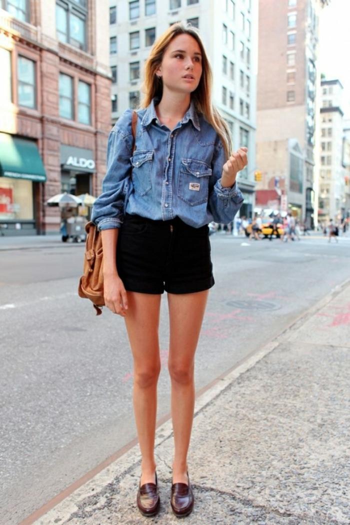 moderne et élégant à la mode les mieux notés dernier prix d'usine ▷ 1001 + images de la tenue avec chemise en jean