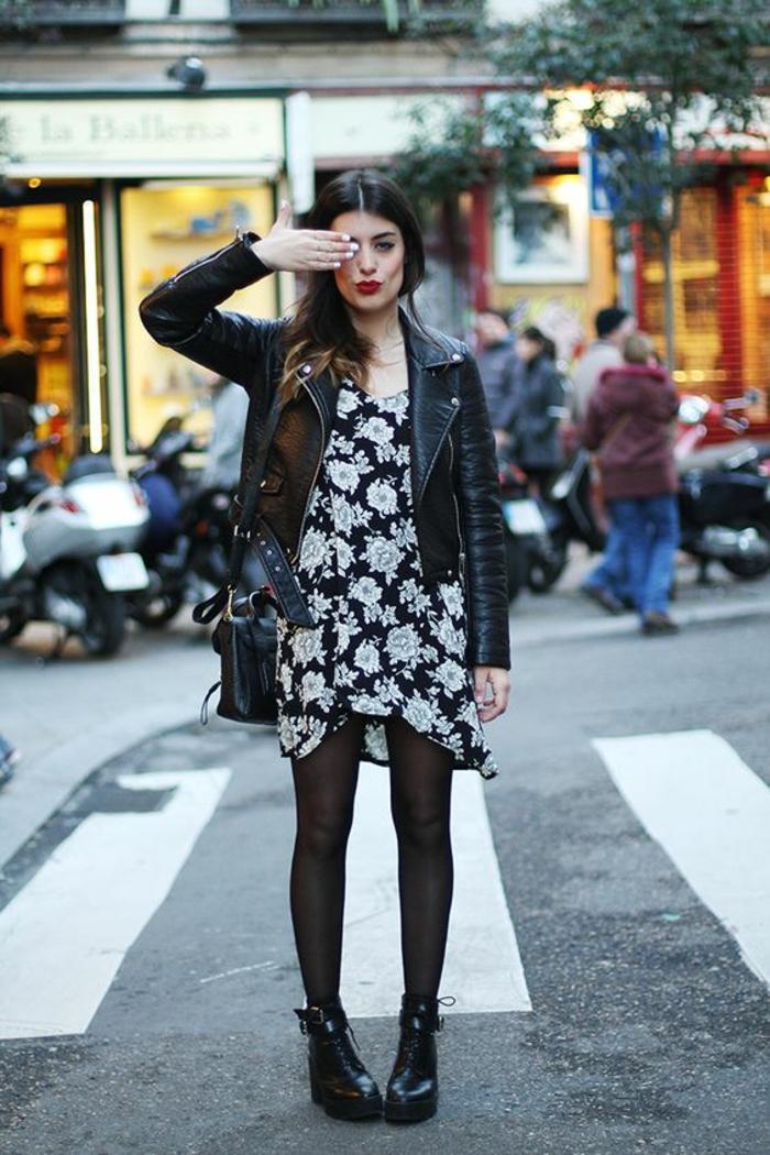 Superbe tenue swag jupe idee tenue classe femme robe et veste moto