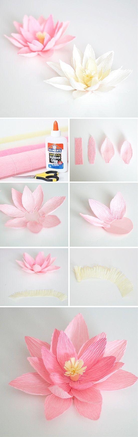 activité créative, decoration maison, comment faire des fleurs en papier crépon soi meme, tutoriel étape par étape