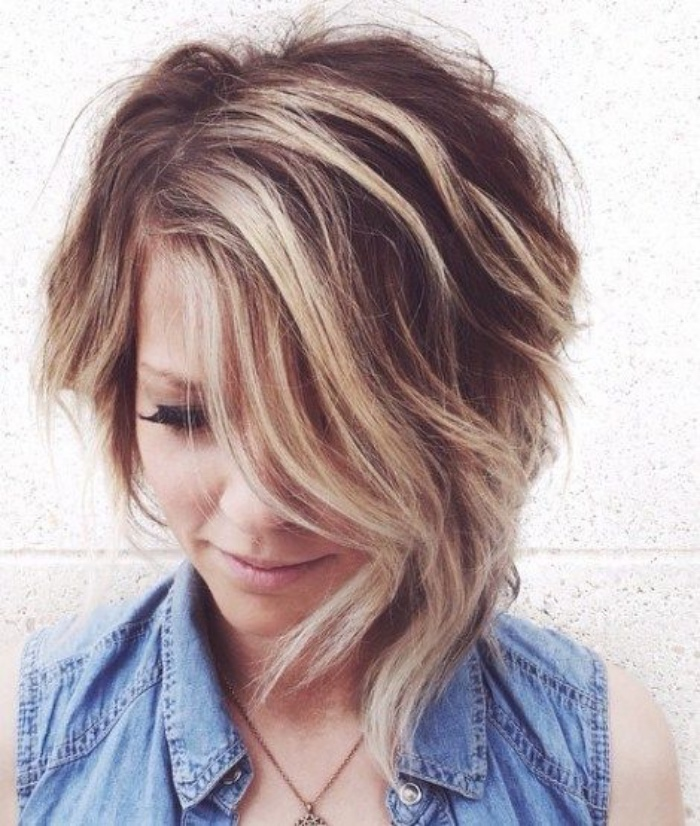 Beautiful idee coupe carre plongeant 10 id e de balayage blond coupe carr court plongeant - Carre plongeant meche blonde ...