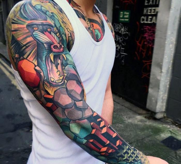 1001 Idees Tatouage Bras Entier Le Tattoo Version Manche Longue