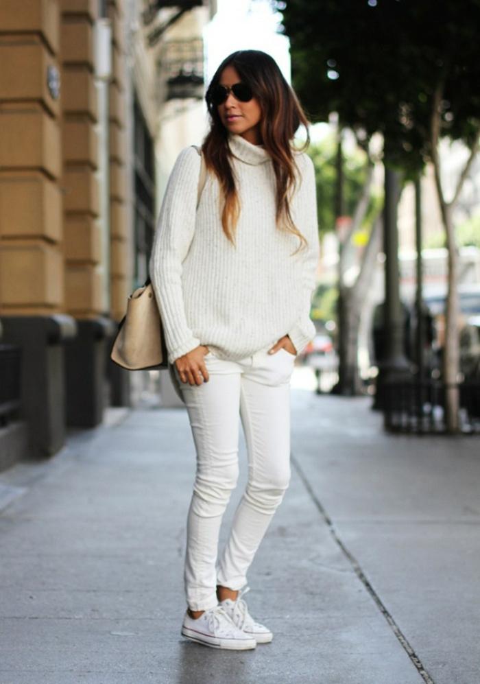 1001 id es pour une tenue avec pantalon blanc fantastique - Que porter avec un pantalon beige femme ...