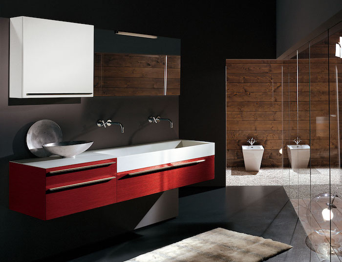 1001 mod les pharamineux de la salle de bain moderne. Black Bedroom Furniture Sets. Home Design Ideas