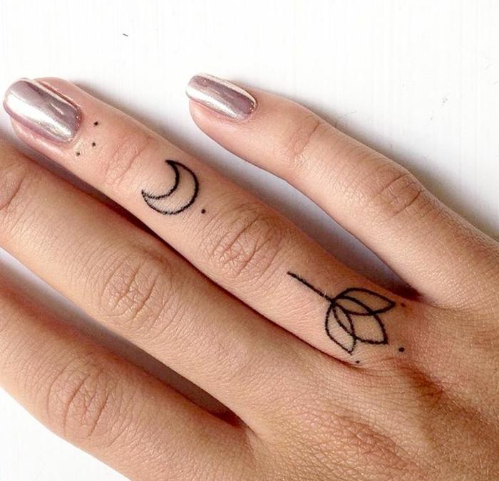 Styles tatouages tattoo fleur simple tatouage étoile sur le doigt