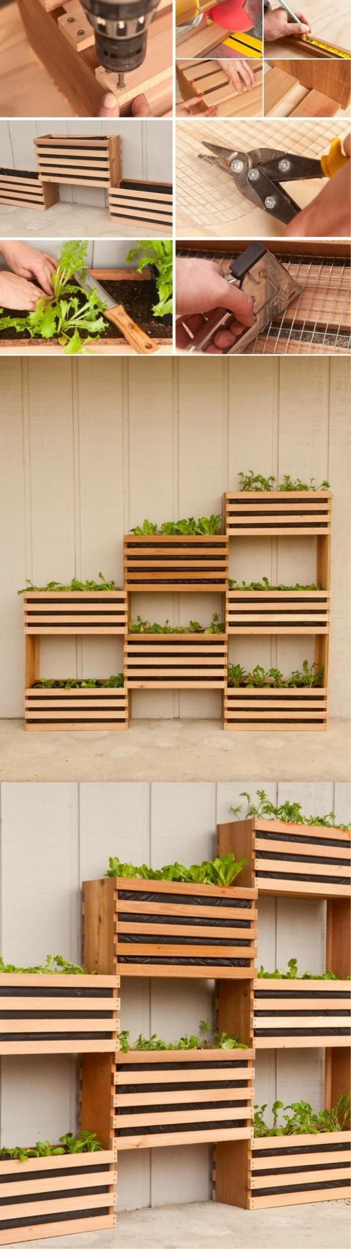 crer des bacs de jardin avec des palettes perfect comment fabriquer un salon de jardin avec des. Black Bedroom Furniture Sets. Home Design Ideas