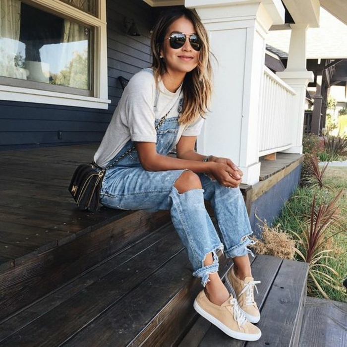 Ootd idée de tenue pour la rentrée comment s habiller a 16 ans salopette jean