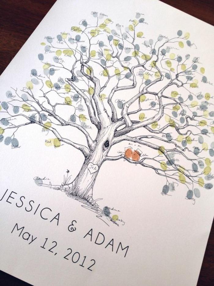 Créer son livre d or mariage le livre du mariage cool idée originale arbre