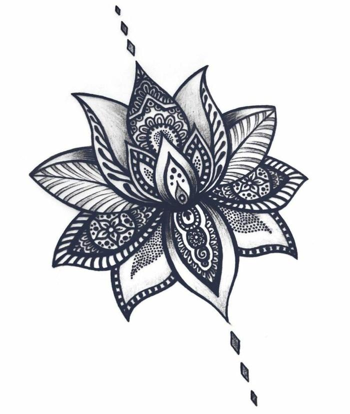 Modèle de tatouage tatouages bras tatouage flanc tatouage a la mode lotus
