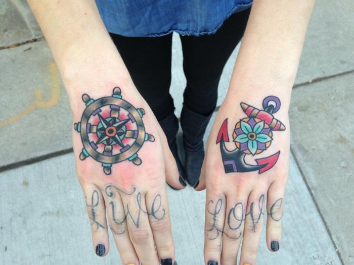 tatouage toile d araignée signification mer tatouage vintage ancre tatouage sur main