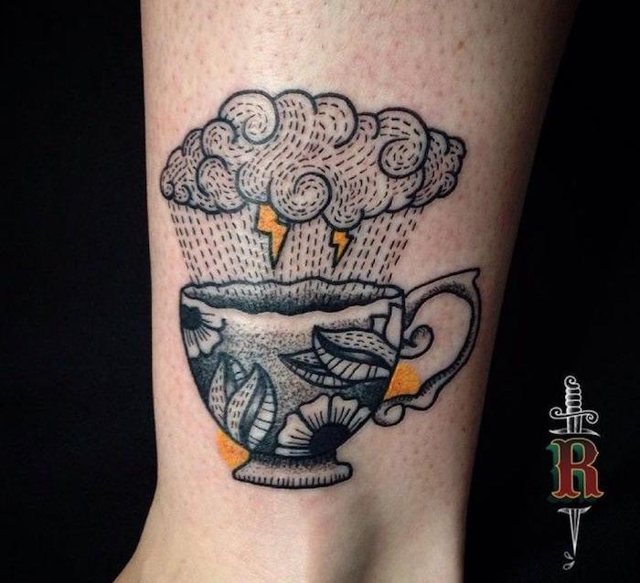 1001 id es tatouage nuage des id es comme s 39 il en pleuvait - Tatouage larme sous l oeil ...