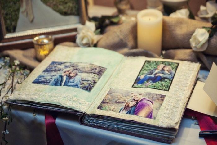 Notre mariage idée livre d or mariage livre d or à customiser scrapbook de tissue