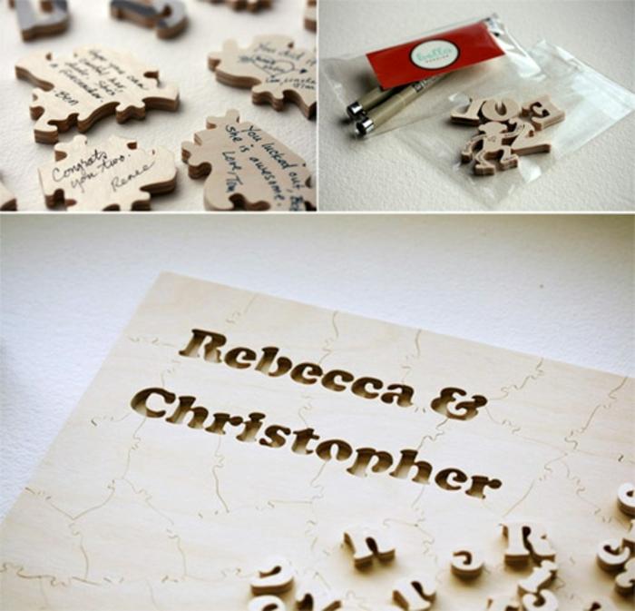 Alternative livre d or mariage livre d or mariage chic idée mariage puzzle