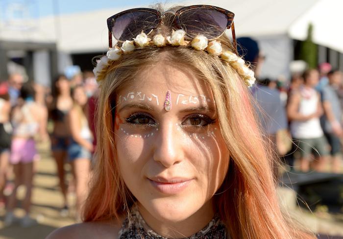 maquillage hippie chic