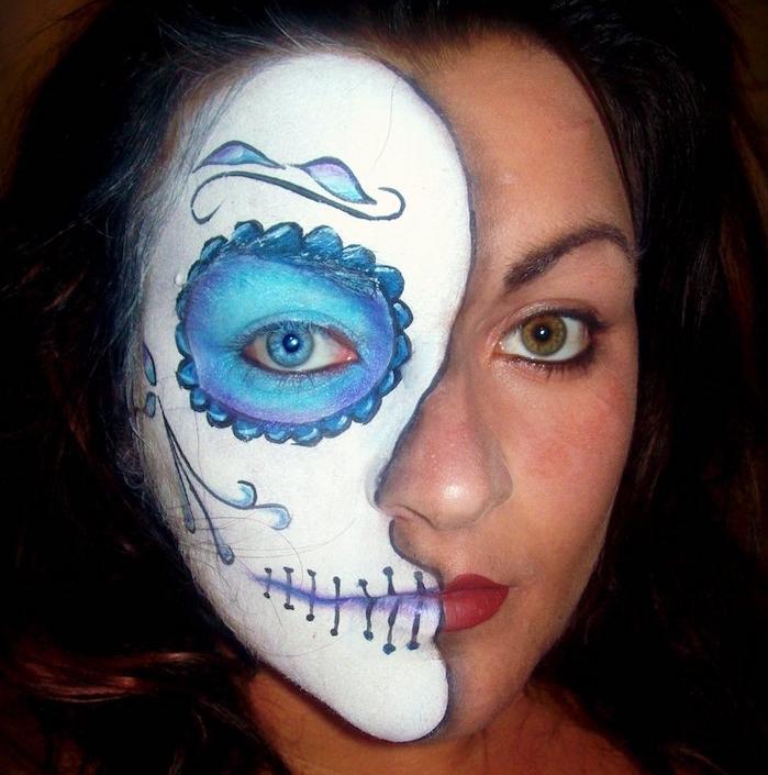 idée déguisement candy skull maquillage visage femme