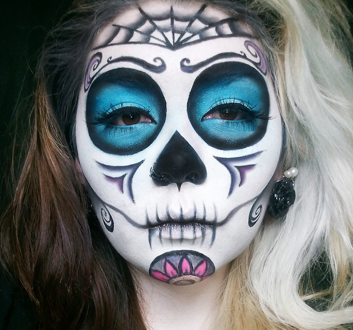 Maquillage t te de mort halloween - Maquillage mexicain facile ...