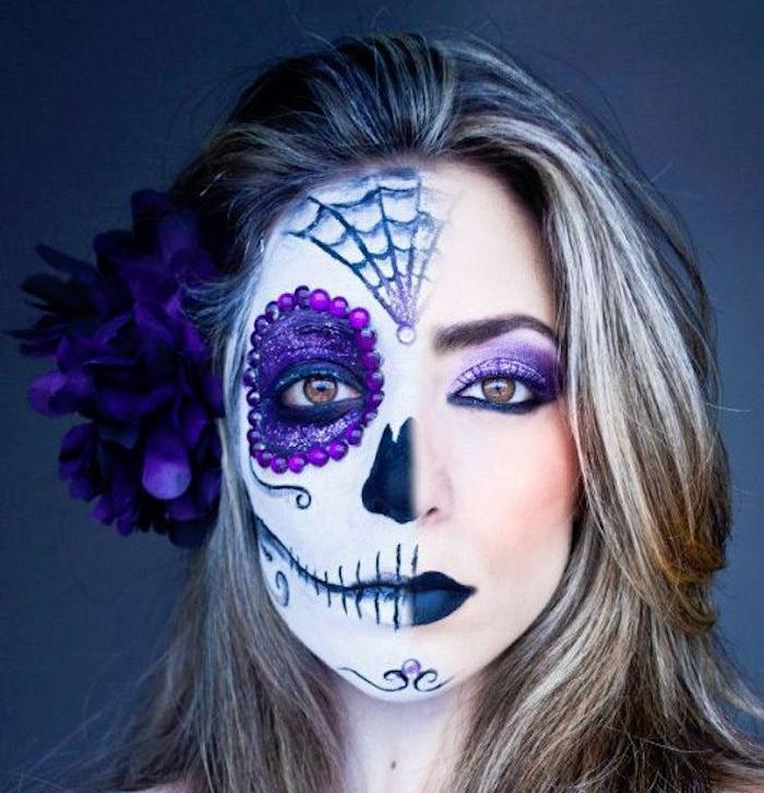 exemple têtes de mort mexicaines maquillage tete mexicaine fete morts