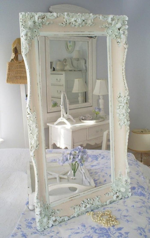 meuble baroque en blanc et bleu effet vieilli commode blanche