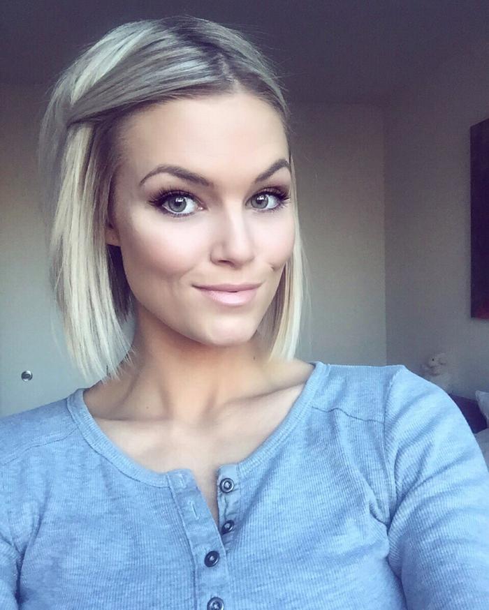 coiffure femme carré sans frange avec le front bien ouvert