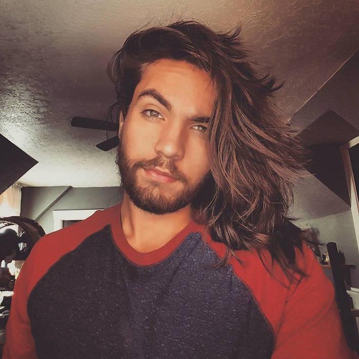 idée coupe de cheveux masculin mi long style mannequin