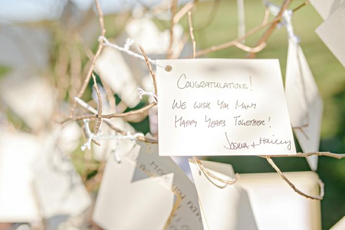 Beau livre d or mariage arbre avec messages sur les branches original livre d or pour mariage déco