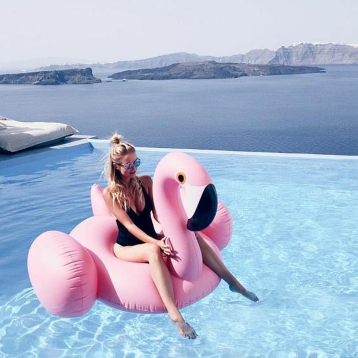 Maillot de bain femme grande taille une piece piscine santorini
