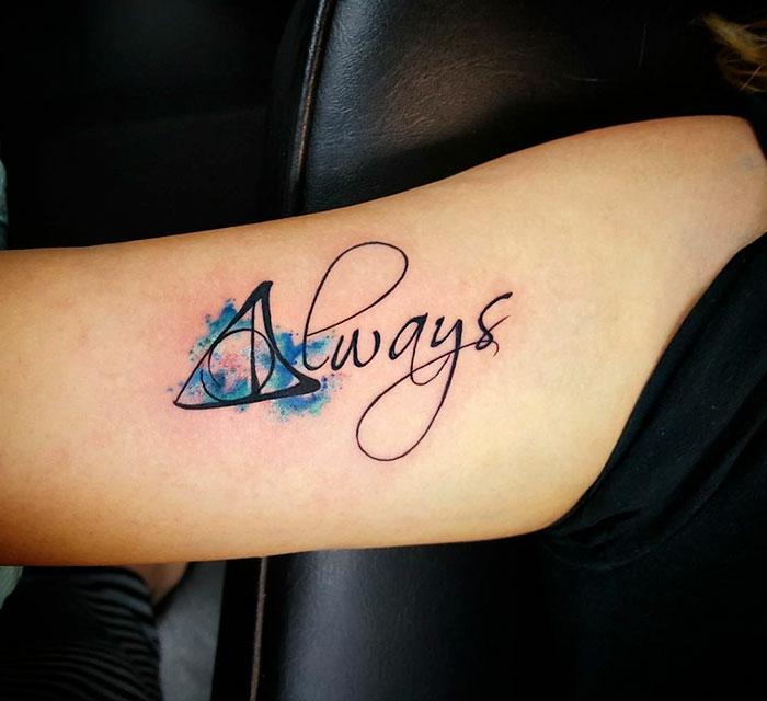 Dessins de tatouages pour femmes tattoo femme Harry Potter Always