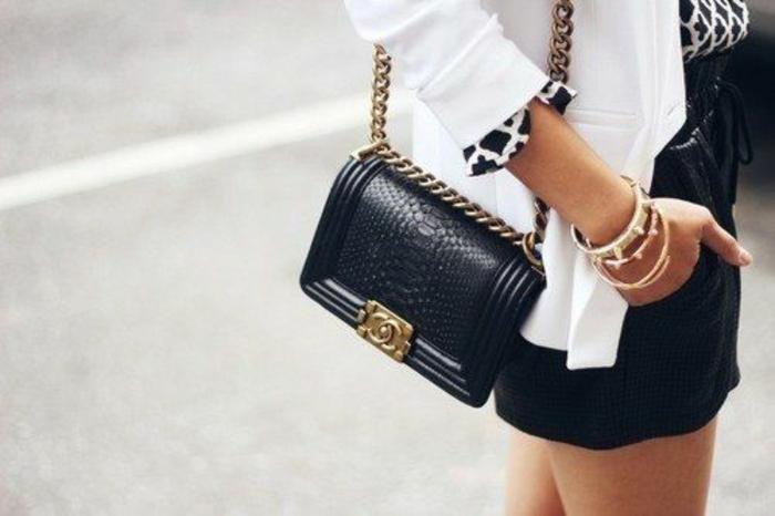 Pochette cuir femme pas cher pochette cuir bandoulière femme noir chanel