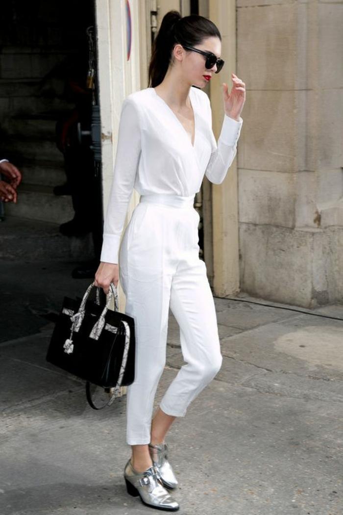 050eabb8b60a Porter une veste blanche femme - Vetement fitness et mode