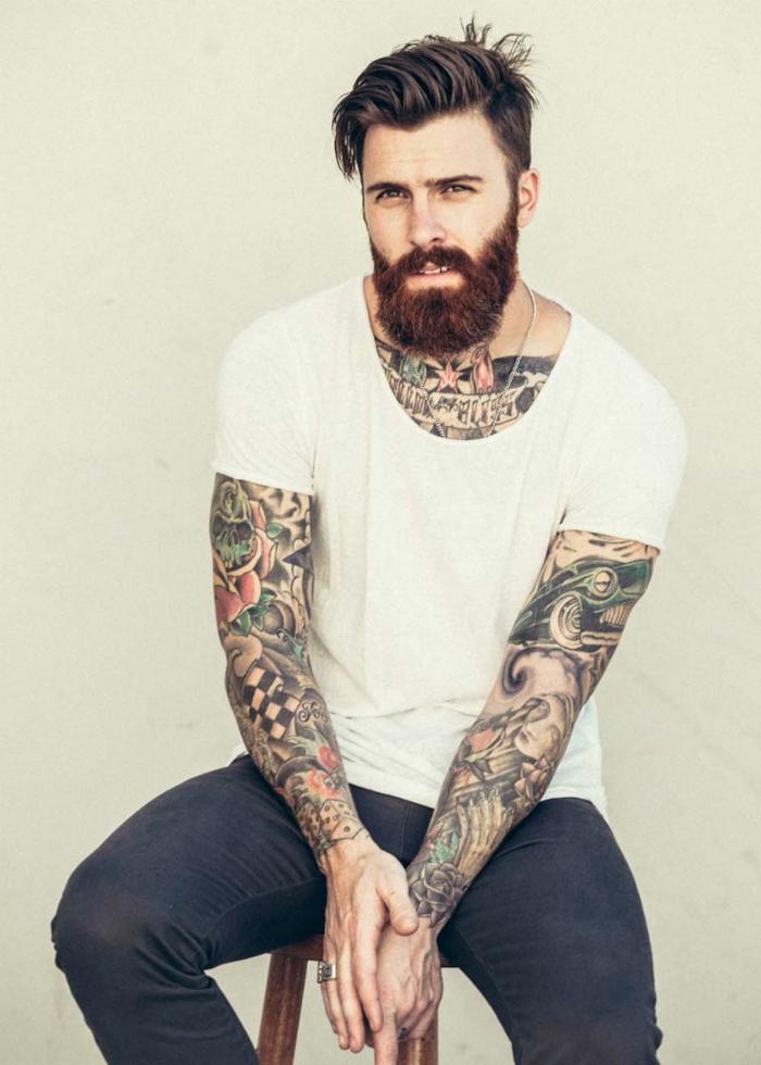 Ravissante idée tatouage homme mollet tatouage sexy tatouage sur le bras