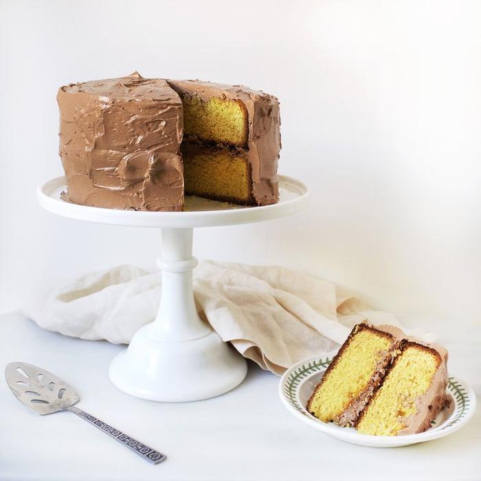 recette simple et rapide aux jaunes d'oeufs et nappage au chocolat